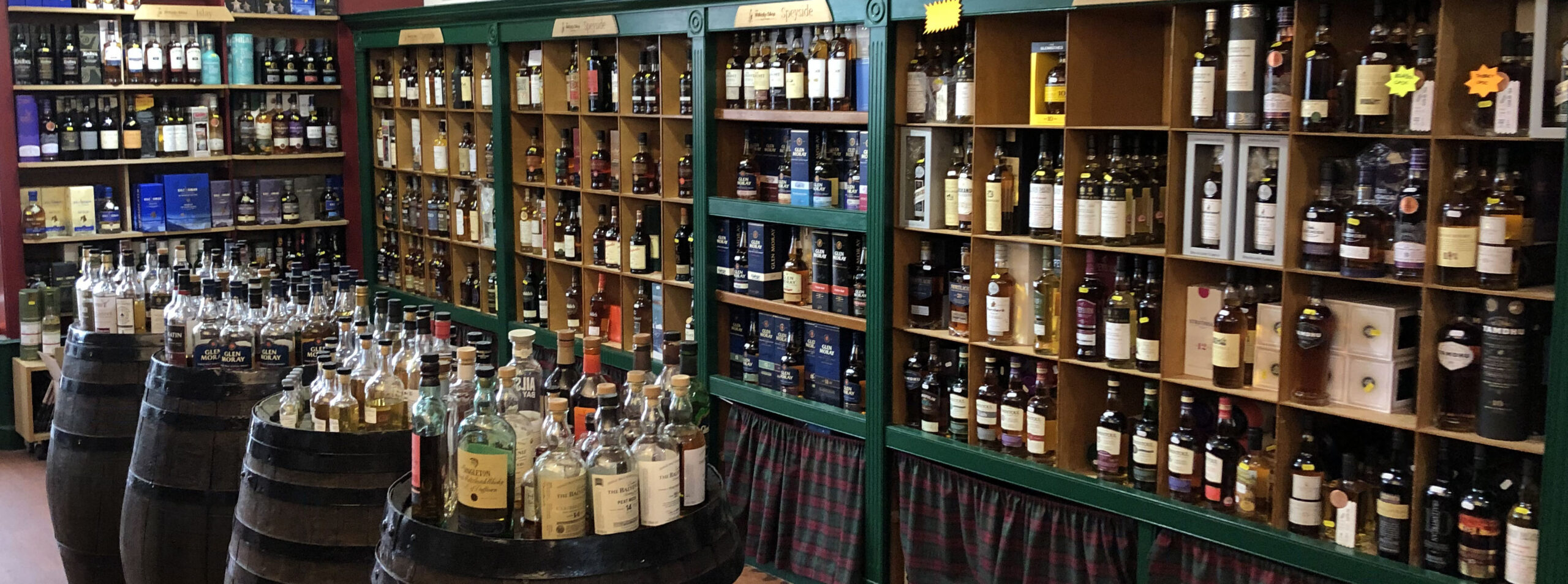 Inside the Whisky Shop Dufftown