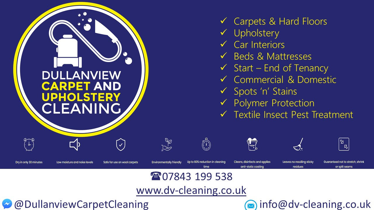 Dullanview carpet and upholstery cleaning logo